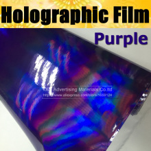 High quality Purple Chrome holographic Vinyl wrap  Rainbow Chrome film 3 Layers holographic sticker Rainbow holographic