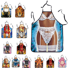 Kitchen Apron Tablier Digital Printed Bibs Sexy Woman Funny Pinafore Cooking Baking Party Cleaning Cute Aprons For Women Avental(China)