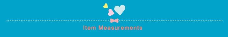 Item Measurements