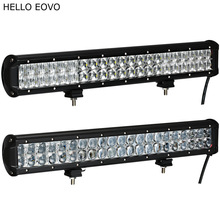 "HELLO EOVO 4D 5D 20"" Inch 210W LED Light Bar for Work Indicators Driving Offroad Boat Car Tractor Truck 4x4 SUV ATV 12V 24v(China)"