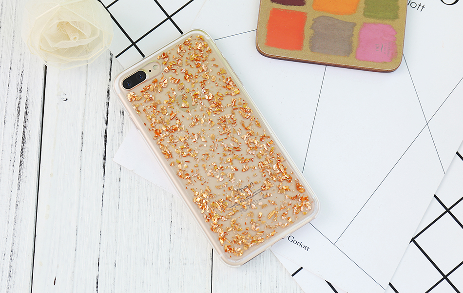 DOEES For iPhone 7 6 6S Plus 5 5S SE Case Luxury Cute Glitter Clear Case For Samsung Galaxy S8 Plus S7 S6 Edge S5 Note 7 5 Back Cover (4)