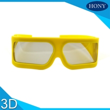 5pcs Big Frame Linear Polarized 3D Glasses For 4D 5D Cinema,yellow Frame IMAX 3d glasses polarized linear glasses for 3D movies