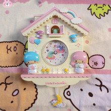 Wall Clock Super Adorable Twin Cabin Unicorn Wall Clock Swing Bedroom Decorative Pendant Children Gift Unicorn Pink(China)