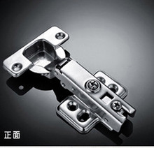 2pcs full overlay satin nickel kitchen cabinet door hinges gate hinge without damper(China)