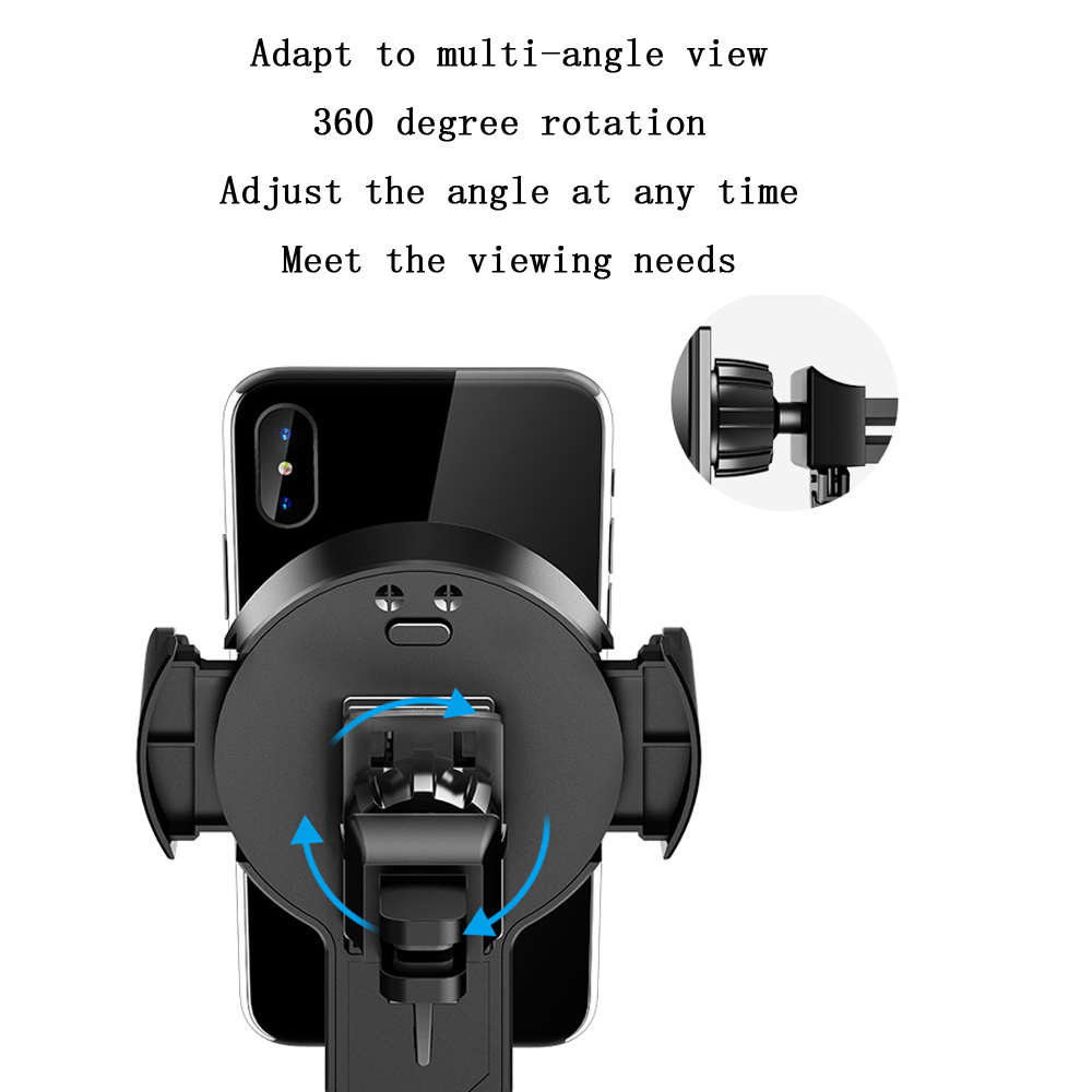 Quality QI Wireless Charger Automatic Infrared Sensor Car auto holder 8