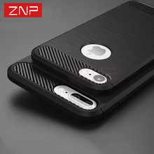 ZNP Luxury Shockproof Phone Case For iPhone 7 7 6 plus 6S 5 2017 New Soft TPU cover case for apple iphone 5 SE 6S 7 plus shell