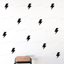 Little Lightning Wall Sticker Wall Decal, Removable DIY home decoration art Wall decors Free Shippin 621(China)