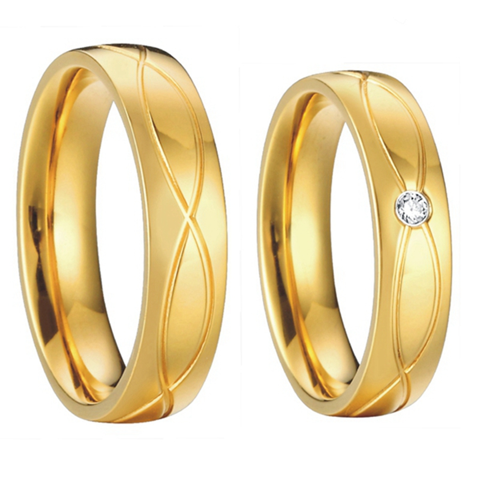 18k gold wedding rings