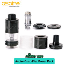 Authentic Aspire Quad Flex Power Pack Tank Kit ire Quad Flex Power Pack RDA/RDTA Atomizer Electronic Cig Tank Top Airflow with r