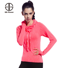 GG.POWER Thin Women Sport T shirts Running Hoodies Lady Exercise Sweatshirts Long Sleeve Sport Tee Tops Athletic Tennis T Shirts