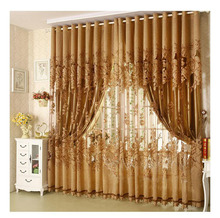 New 2*2.7m Modern Fashion High Quality Window Screening Curtain Finished Product Window Curtains Without Blackout Lining Curtain(China)