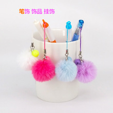 Hot Super Round Key Chain real Rabbit Hair Bulb Fur Plush Pom Poms Ball Bag Car Mobile phone Ornaments Pendant Key Ring jewelry