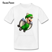 Super Mario children's T Shirt Infant Pure Cotton Boy Girl 2017 T-shirt Crew Neck Kid Tshirt Toddler Tee-shirt(China)
