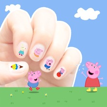 2017 hot sales korea style Waterproof 3D Nails Sticker little pink pig 15 design Nails Foil Sticker Decor Decals for children(China)