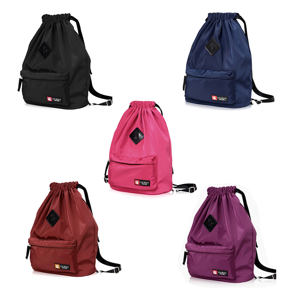 Drawstring Bag Festival Backpack Nylon Gym Sports Fitness Travel Yoga Women Girls Student Bag Travel Backpack
