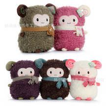 ,lovely scarf sheep plush toy about 32cm muff ,Warm hand holder toy ,Christmas gift h223(China)