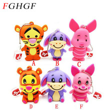 FGHGF cartoon animal tigger pendrive 4GB 8GB 16GB 32GB USB Thumb Memory Stick Pen Drive Cartoon Cute pig USB Flash Drive(China)