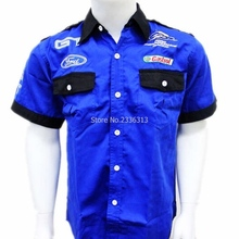 Wholesale F1 race suit moto gp ford short-sleeved shirt embroidered shirts Classic Model Moto man leisure fashion clothes(China)