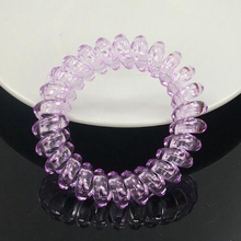 1pcs Hot Sale Women's Hair Accessories,The edge of the diamond, Clear White,Transparent color, Telephone Line Rubber Band   A203
