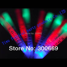 free shipping led light customize logo stick glow stick multicolor with red blue green flash led stick printing logo(China)