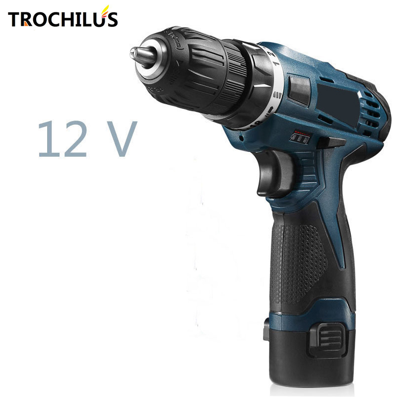 High quality 12V multi - function power tool  cordless drill with rechargeable miniature electric drill with lithium battery<br>