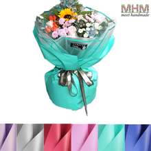 Modern Stylish Gift Flower Wrapping Paper 10pc Bouquet Wrapping Paper Packaging Material Florist Supplies(China)