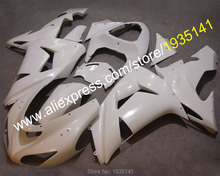 Hot Sales,Pearl White fairings For Kawasaki ZX10R NINJA 06 07 ZX-10R Cowling 2006 2007 ZX 10R Motorcycle kit (Injection molding)(China)
