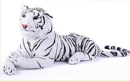 lovely tiger plush toys white tiger toy stuffed tiger doll white tiger pillow birthday gift 50cm<br>