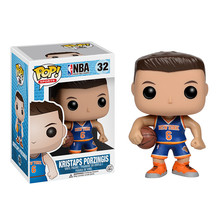 Funko POP Basketball superstar Kristaps Porzingis Action Figure Collectible Model Toys Great quality Christmas Gift