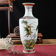 New Arrival Classic Traditional Antique Jingdezhen Chinese Porcelain Flower Vase For Home Office Decor(China)