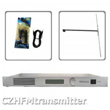 50W CZH CZE-T501 FM transmitter 0-50w power adjustable radio broadcaster RDS port 1/2 DIPOLE ANTENNA kit(China)