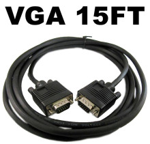 New 5M DB15 HD VGA 15 Pin SVGA Adapter M/M Monitor Power Male To Male Cable Converter Connector Cord Replacement Cable For PC TV