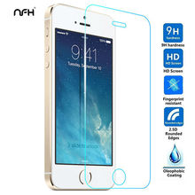 Ultra Thin 0.3mm Tempered Glass For On iPhone 5 5S SE 2.5D Arc Edge Touch Screen Explosion Protection Film For Apple 5 5SE Glass