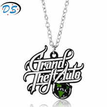 Fashion Jewelry PS4 Xbox PC Rockstar Game GTA V Grand Theft Auto 5 Necklace For Men Boys Fans Link Chain Colar Collier