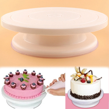 New  Plastic Cake Turntable Rotating Cake Decorating Turntable Anti-skid Round Cake Stand Cake Rotary Table Baking Tools