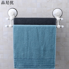 2016 hot sale Hight quality stainless steel bathroom towel rack multi function double suction bathroom shelves towel rail(China)