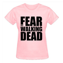 RTTMALL Femme Short Sleeve Cotton Fear the Walking Dead Logo Ladies Apparel Movie Hot Topic Girlfriend Loose Size S-XL t shirts(China)