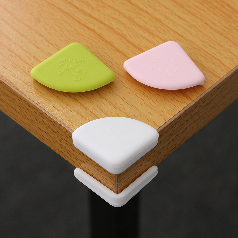 4Pcs//lot Flower Pattern Soft Baby Safe Corner Protection Kid Table Edge Guard RS