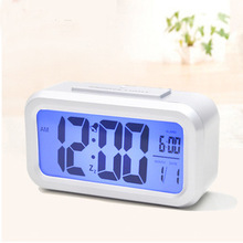 New Digital LCD Screen Mini Desktop LED Projector Alarm Clock Multi-function with Snooze+Blue Backlight+Calendar