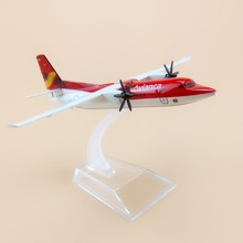 16cm Red Alloy Metal Air Colombia Avianca Fokker F-50 F50 Airlines Airways Plane Model Aircraft Airplane Model w Stand