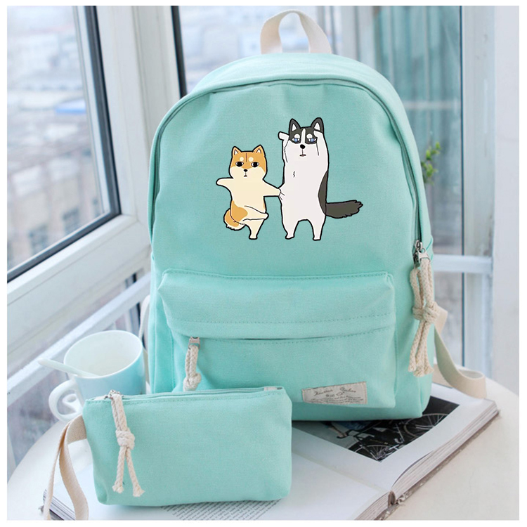 Anime Shiba Inu Cosplay Cartoon campus male and female students backpack casual wild cute backpack<br>