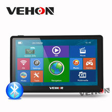 VEHON 7 inch HD Car GPS Navigation Capacitive Screen FM Bluetooth AVIN Navitel Europe Sat nav Truck gps navigator automobile(China)