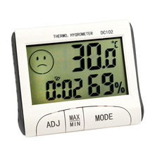 Mini Digital Alarm Clock Thermometer Humidity Meter Room Temperature Indoor Hygrometer Hogard(China)