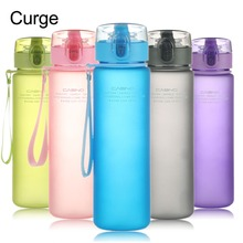 CURGE Brand BPA Free Leak Proof Sports Water Bottle High Quality Tour Hiking Portable My Favorite Bottles 400ml 560ml #1112(China)