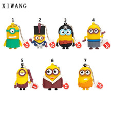 XIWANG usb3.0 cartoon big eye cute flash drive 4GB 8GB 16GB 32GB 64GBcartoon little yellow man USB2.0 storage disc Free Shipping(China)