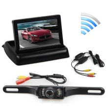 Wireless 4.3 Inch Car Reversing Camera Kit Back Up Car Monitor LCD Display HD Car Rear View Camera Parking System