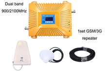 New dual band repeater lcd display 2g 3g repeater cellular gsm signal repeater 900 2100 phone gsm900 signal booster Amplifier
