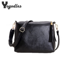 Brand designer women bag soft leather fringe crossbody bag shoulder women messenger bags candy color