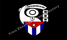 Cuba CDR Flag Comites de Defensa de la Revolucion Flag 3x5FT 120g 100D Polyester Double Stitched High Quality Banner