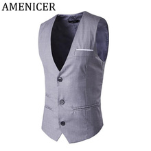 Men Vest New Single Breasted Sleeveless Coat Button Waistcoat For Man Warm Tactical Male Vests With Many Pockets Bodywarmer Coat
